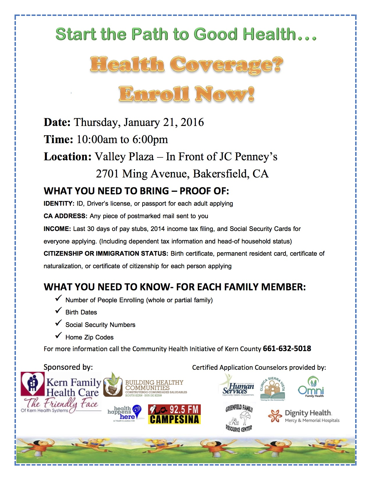 Covered California Enrollment Events Jan 21 Building Healthy